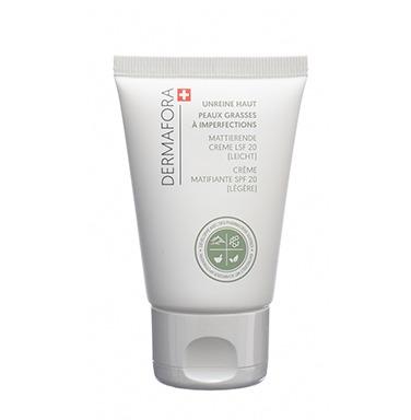 Dermafora HYDRATER Crème régulatrice de sébum matifiante SPF 20 (légère) 50ml pour peaux grasses à imperfections