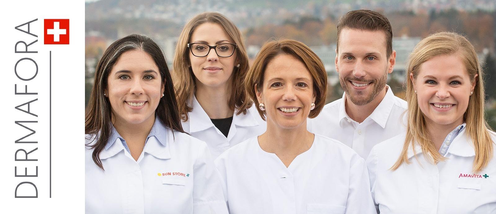 L'équipe de pharmaciens suisses de Dermafora