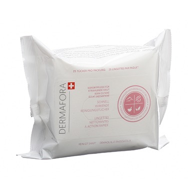 Dermafora CLEANSE Fast acting wipes – 25 wipes for instant skin radiance